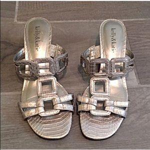 🔷BOGO🔷 Silver kitten heels sandals size 6